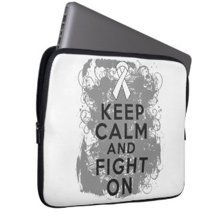 Mesothelioma Keep Calm and Fight On Laptop Sleeve