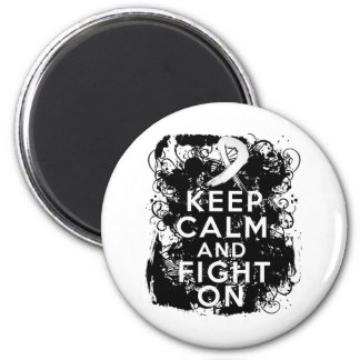 Mesothelioma Keep Calm and Fight On Refrigerator Magnets