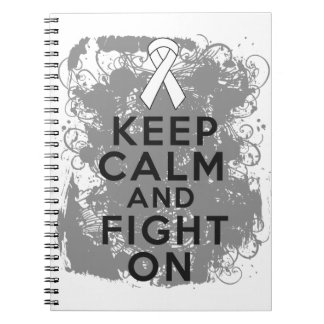 Mesothelioma Keep Calm and Fight On Spiral Notebooks