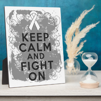 Mesothelioma Keep Calm and Fight On Photo Plaque