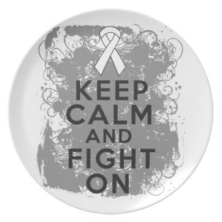 Mesothelioma Keep Calm and Fight On Dinner Plates