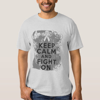 Mesothelioma Keep Calm and Fight On Shirts