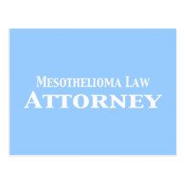 Mesothelioma Law Attorney Gifts Postcard