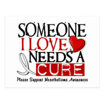Mesothelioma NEEDS A CURE 1 Postcard