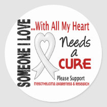 Mesothelioma Needs A Cure 3 Classic Round Sticker