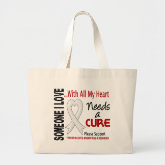 Mesothelioma Needs A Cure 3 Large Tote Bag