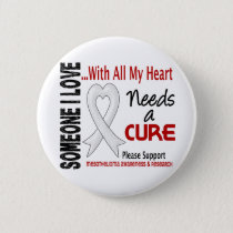 Mesothelioma Needs A Cure 3 Pinback Button