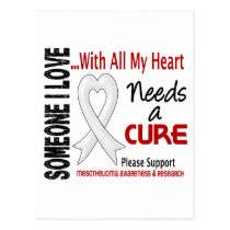 Mesothelioma Needs A Cure 3 Postcard