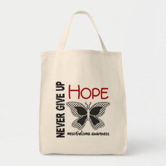 Mesothelioma Never Give Up Hope Butterfly 4.1 Grocery Tote Bag