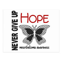 Mesothelioma Never Give Up Hope Butterfly 4.1 Postcard