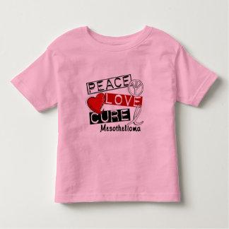 Mesothelioma PEACE LOVE CURE 1 Tee Shirts