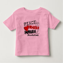 Mesothelioma PEACE LOVE CURE 1 Toddler T-shirt
