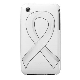 Mesothelioma Pearl Ribbon 3 Case-Mate iPhone 3 Cases