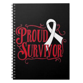 Mesothelioma Proud Survivor Spiral Notebook