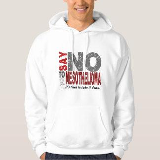 Mesothelioma SAY NO Hooded Sweatshirts