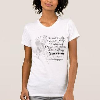 Mesothelioma Support Strong Survivor T-Shirt