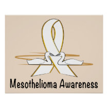 Mesothelioma Swans of Hope Poster