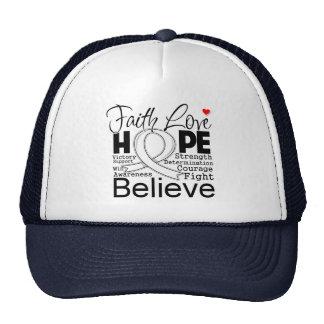 Mesothelioma Typographic Faith Love Hope Trucker Hat