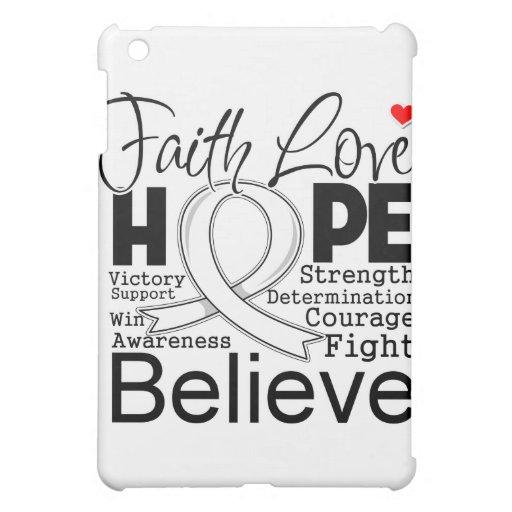 Mesothelioma Typographic Faith Love Hope iPad Mini Covers