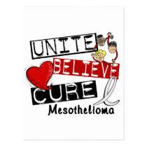 Mesothelioma UNITE BELIEVE CURE Postcard