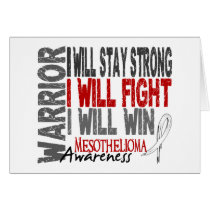 Mesothelioma Warrior Card