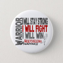 Mesothelioma Warrior Pinback Button