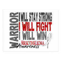 Mesothelioma Warrior Postcard