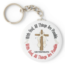 Mesothelioma With God Cross 1 Keychain