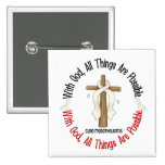 Mesothelioma With God Cross 1 Pinback Buttons
