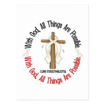 Mesothelioma With God Cross 1 Postcard