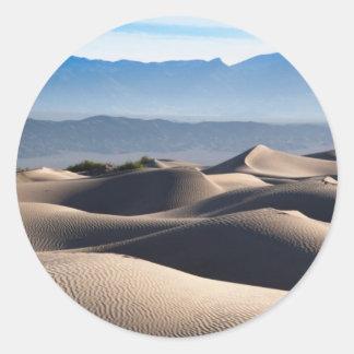 Mesquite Flat Sand Dunes Classic Round Sticker