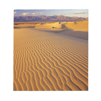 Mesquite Flat Sand dunes in Death Valley Memo Note Pad