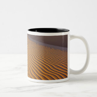Mesquite Flat Sand dunes in Death Valley Two-Tone Coffee Mug