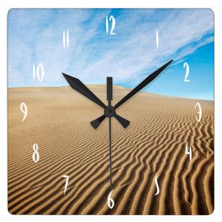 Mesquite Flats Sand Dunes Square Wall Clock