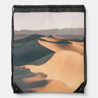Mesquite Sand Dunes in Death Valley Drawstring Bag