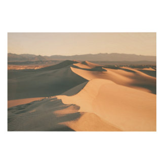 Mesquite Sand Dunes in Death Valley Wood Print