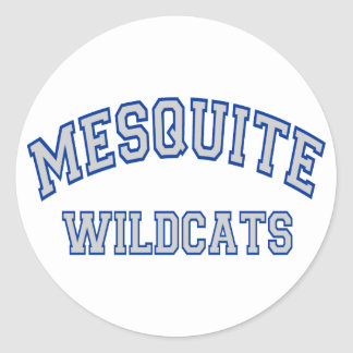 Mesquite Wildcats Classic Round Sticker