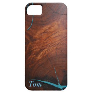 MESQUITE WOOD TURQUOISE INLAY iPHONE 5 CASE MATE