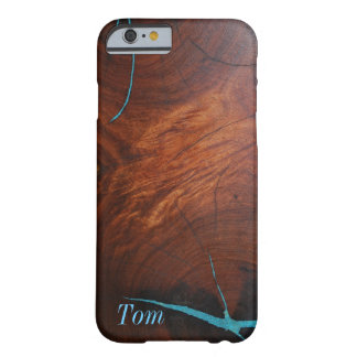 MESQUITE WOOD TURQUOISE INLAY iPhone 6 Barely There iPhone 6 Case