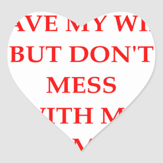 MESS HEART STICKER