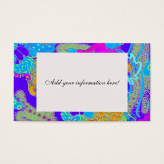 Mess in the Garden Wild and Crazy Abstract Business Card