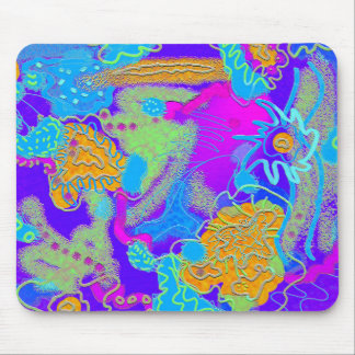 Mess in the Garden Wild and Crazy Abstract Mouse Pad