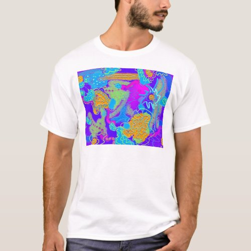 Mess in the Garden Wild and Crazy Abstract T-Shirt