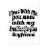 Mess With Me You Mess With My Brazilian Jiu-Jitsu Postcard