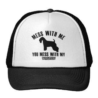 Mess with my wheaten trucker hat