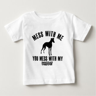 Mess with my Whippet Baby T-Shirt