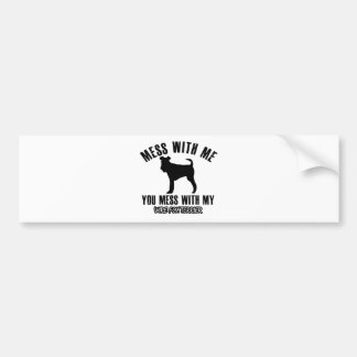 Mess with my wire fox terrier bumper sticker