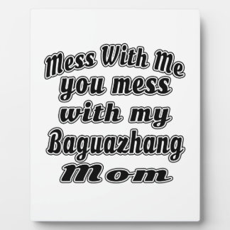 Mess with out you mess with my Baguazhang Mom Display Plaques