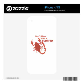 Mess With Scorpio iPhone 4S Decals