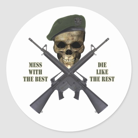 Mess With The Best Classic Round Sticker